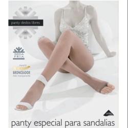 PANTY DEDOS LIBRES  ESPECIAL SANDALIAS 9 DEN TALLA GRANDE 2509