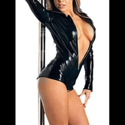 BODY CATSUIT WETLOOK  MANGA LARGA 2768 TALLA ÚNICA
