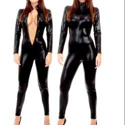 CATSUIT WETLOOK COLOR NEGRO 3694 TALLA XL