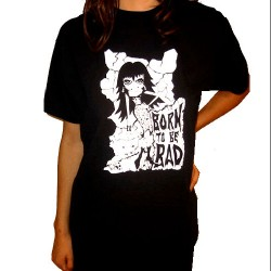 CAMISETA BORN TO BE BAD B/N TALLA M/L