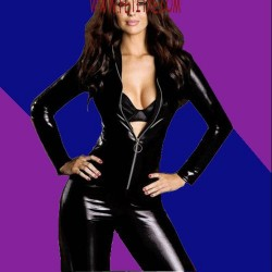 CATSUIT WETLOOK COLOR NEGRO CON CREMALLERA 4467 TALLA ÚNICA