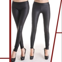 LEGGINGS WETLOOK SERPIENTE 4893 COLOR NEGRO TALLA L GRANDE