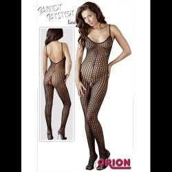 CATSUIT DE MALLAS GRUESAS COLOR NEGRO 5107 TALLA  S-2XL