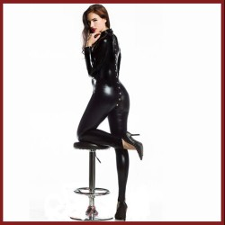 CATSUIT WETLOOK REVERSIBLE 5453 BOTONES TALLA ÚNICA