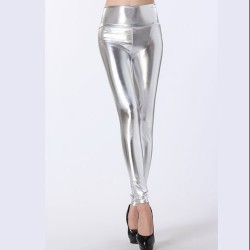 LEGGINGS WETLOOK COLOR PLATA 5988 TALLA ÚNICA