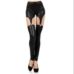 LEGGINGS-MEDIAS LIGUERO WETLOOK 6257 TALLA ÚNICA
