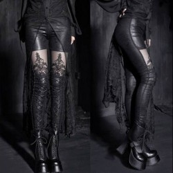 LEGGINGS LAZADO CORSÉ WETLOOK Y TUL 6542 TALLA M-XL