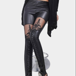 LEGGINGS LAZADO CORSÉ WETLOOK Y TUL 6542 TALLA M