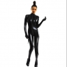 CATSUIT ENTERO WETLOOK 7273 COLOR NEGRO TALLA ÚNICA