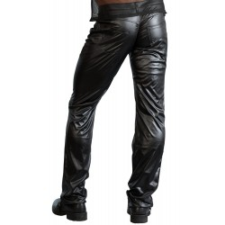 PANTALONES WETLOOK COLOR NEGRO 810 TALLA S-XL
