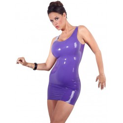 MINI-VESTIDO DE LATEX LILA 822 TALLA S-XXL