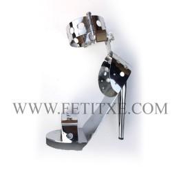 7181 STEEL METAL BONDAGE BALLET HEELS